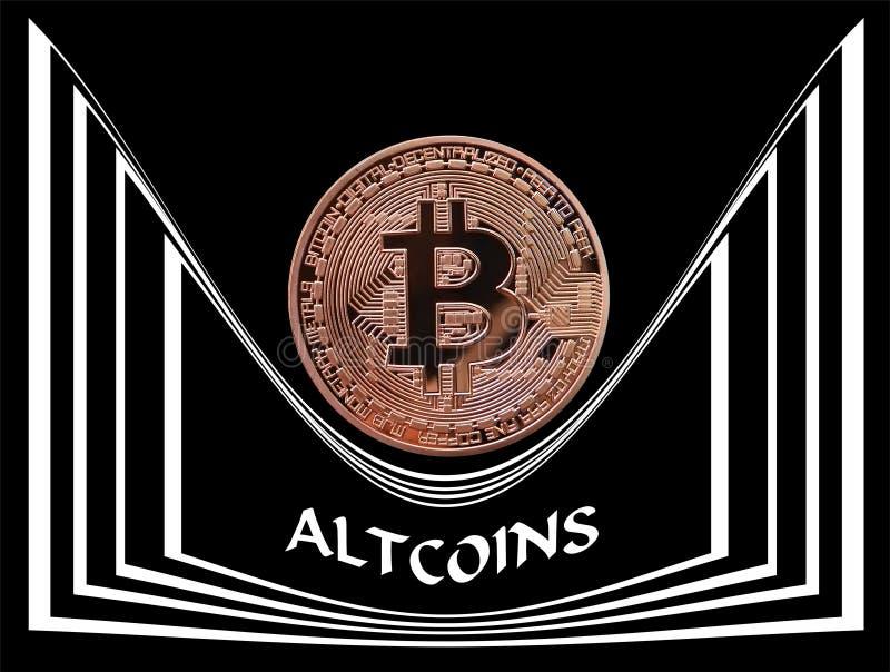 控制市场的重的Bitcoin 库存例证