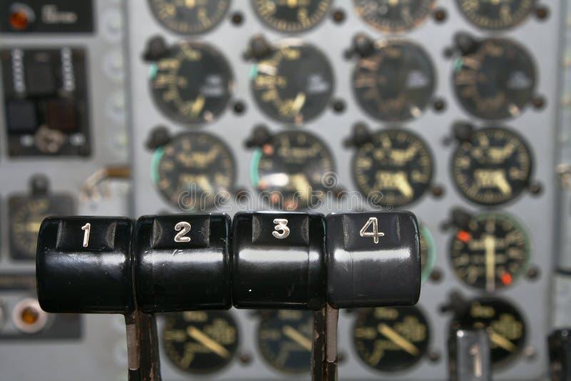 控制引擎飞机运输 免版税图库摄影