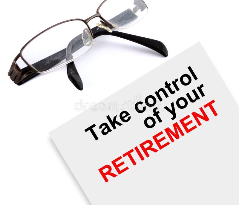 控制您的退休 免版税图库摄影