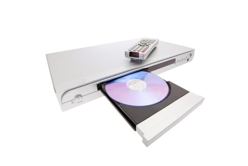 控制抛出球员遥控的光盘dvd 图库摄影