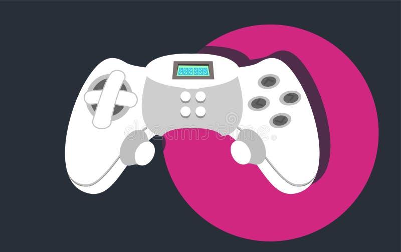 控制杆 3d背景管理员比赛设计白色 传染媒介平的例证 库存例证