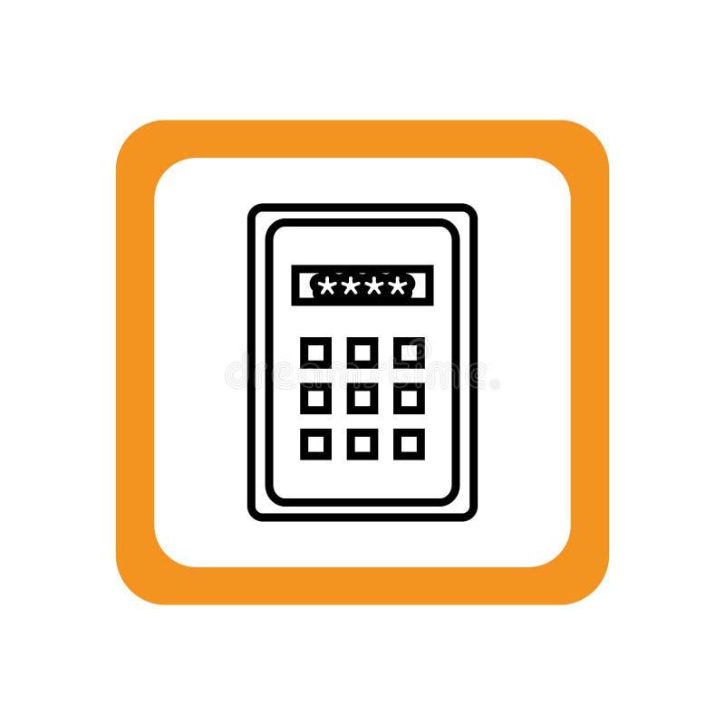 控制板密码钥匙 向量例证