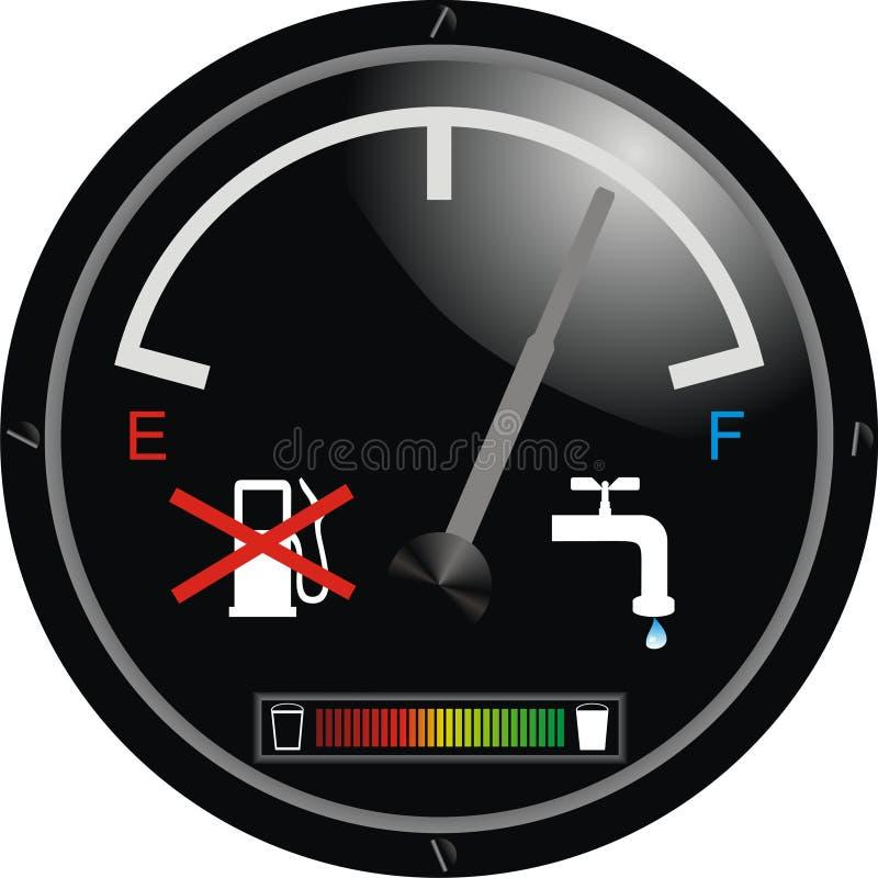 控制板引擎水 向量例证