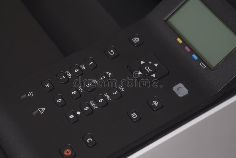 控制板激光彩色打印机 图库摄影