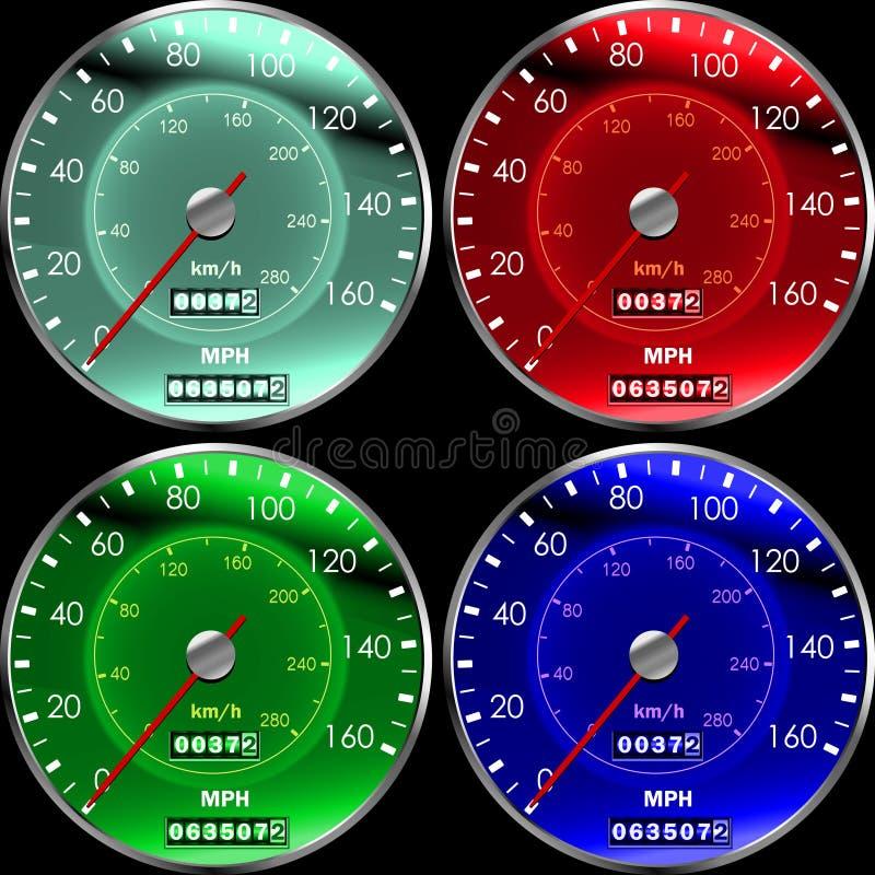 控制板车速表 库存例证