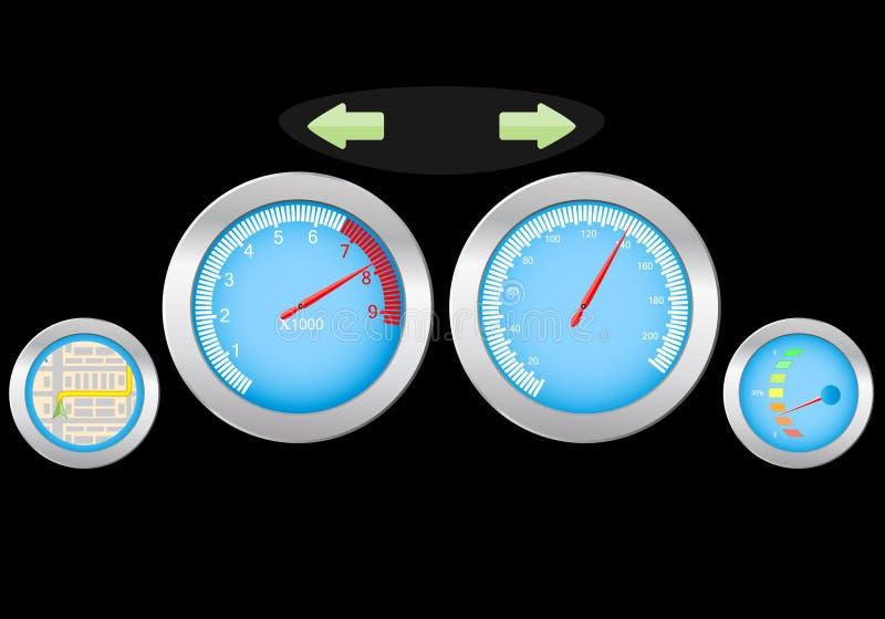 控制板 向量例证