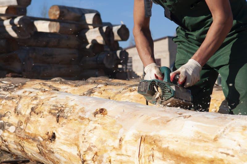 控制柄计划的木材 图库摄影