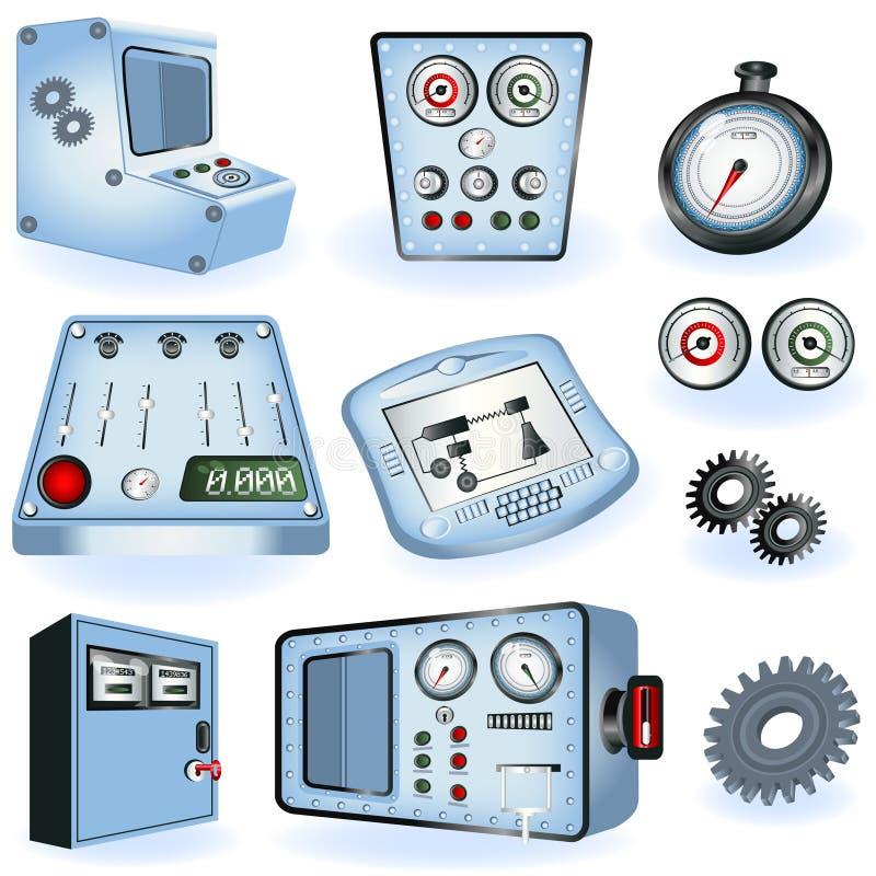 控制电机器操作员 向量例证