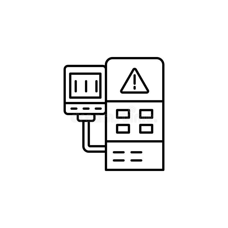 控制系统象 生产象的元素流动概念和网apps的 稀薄的线路控制的系统象可以为网使用 向量例证
