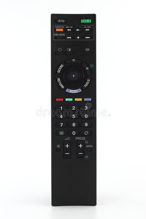 控制远程电视 免版税库存照片