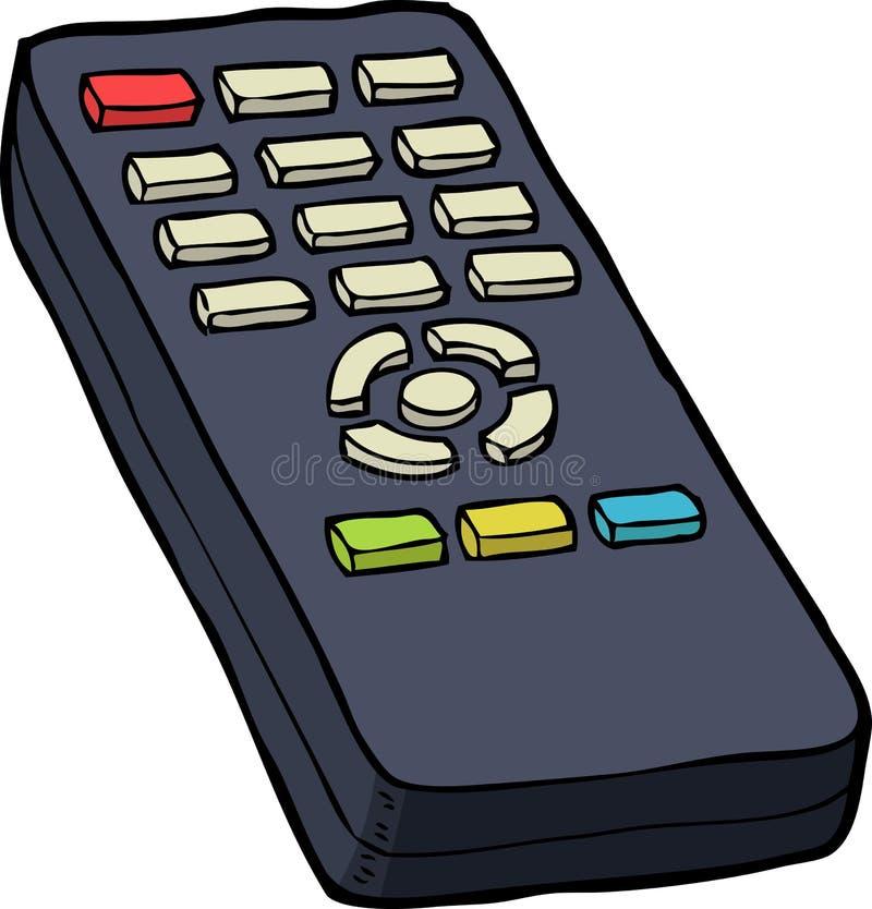 控制远程电视 库存例证