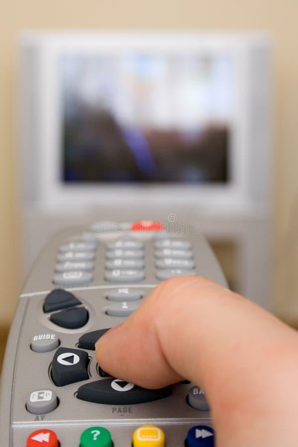控制远程电视 图库摄影