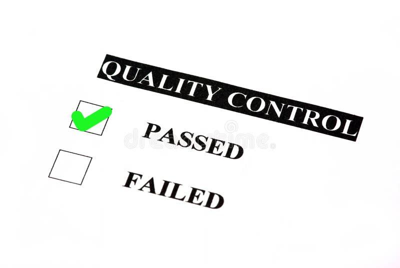 控制通过的质量 向量例证