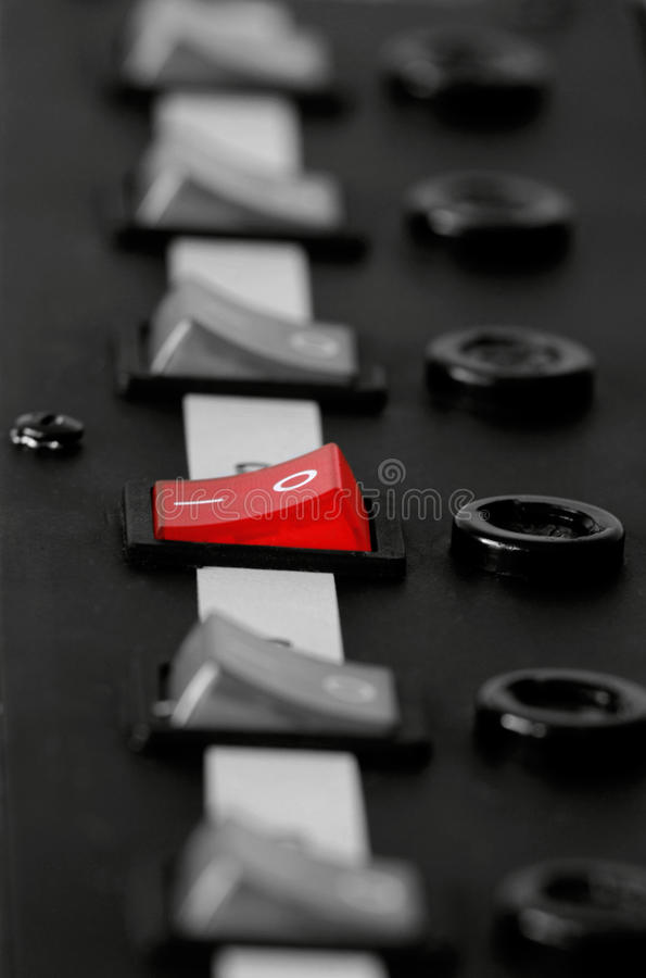 控制面板 免版税库存照片