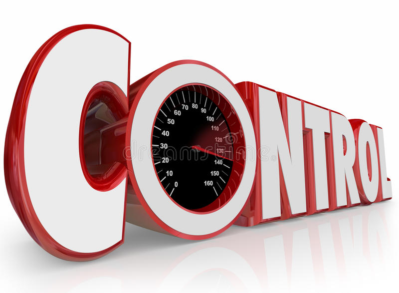 控制3d词车速表影响力量力量命令Outcom 向量例证