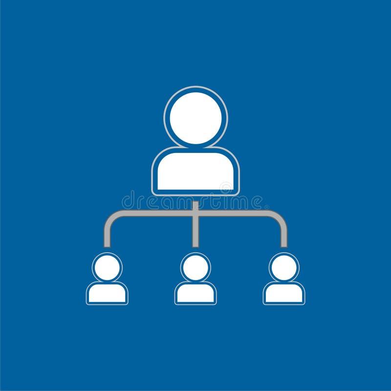 推举营销象,网络营销,企业合作 向量例证