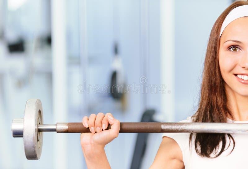 推力重量妇女年轻人 库存照片