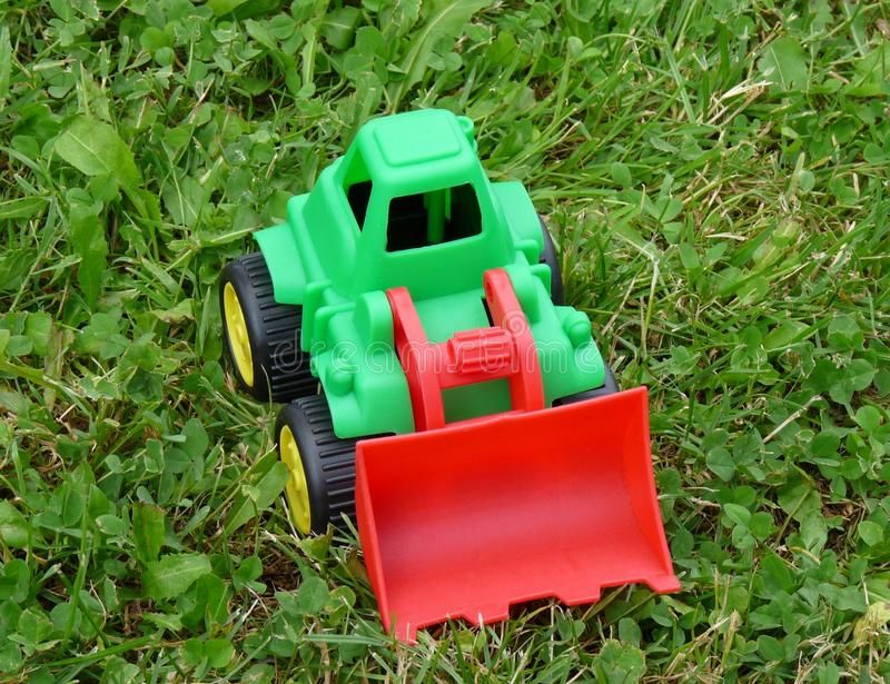 推土机玩具 免版税图库摄影