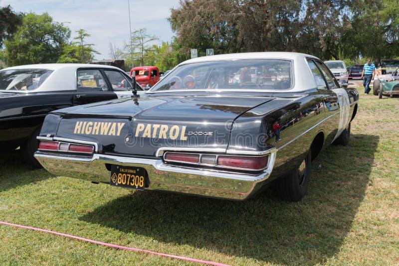 推托加利福尼亚高速公路巡逻车 免版税库存照片