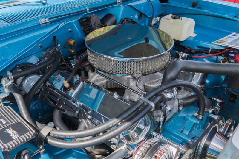 推托箭GT炫耀在显示的引擎 库存图片