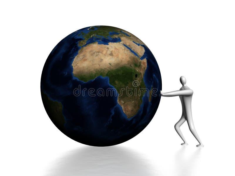 推挤地球 皇族释放例证
