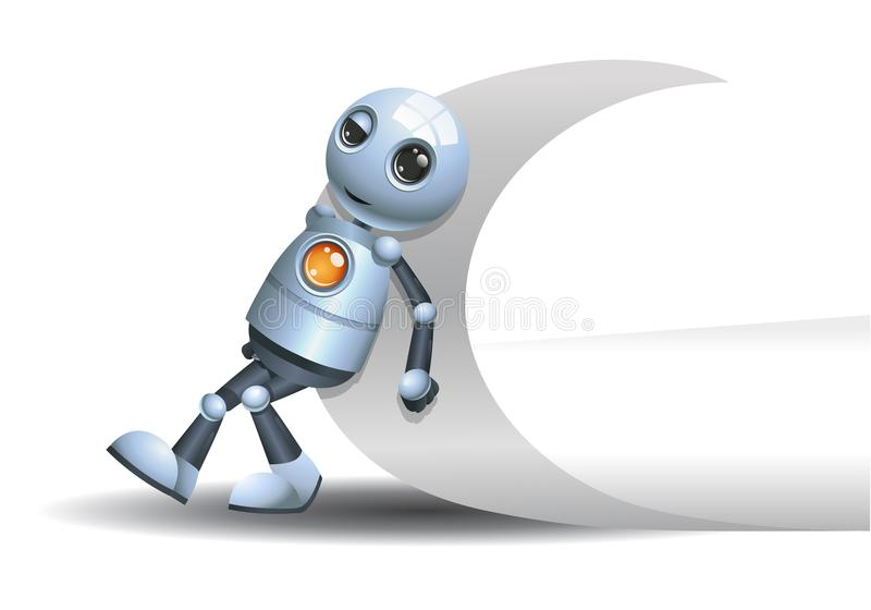 推挤页的角落一点机器人 皇族释放例证