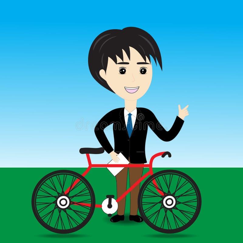 推销员自行车 向量例证