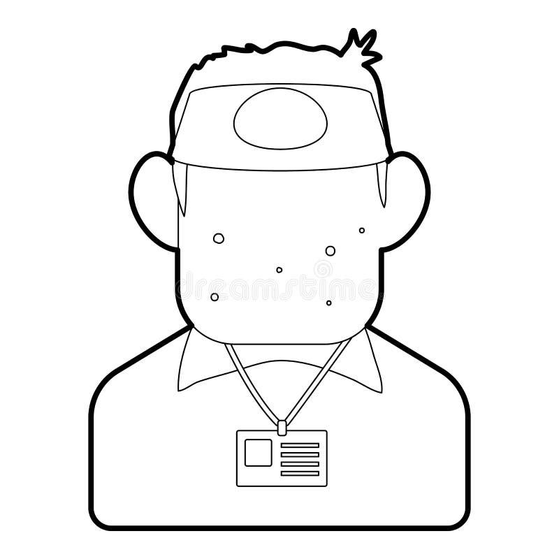 推销员象,概述样式 库存例证