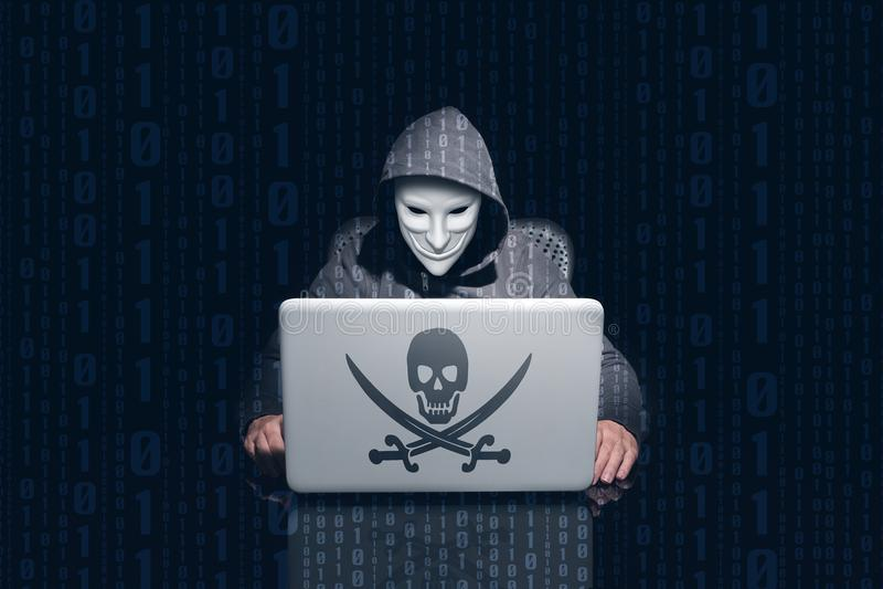 掩没的匿名乱砍乱砍的和使用的计算机密码 免版税库存图片