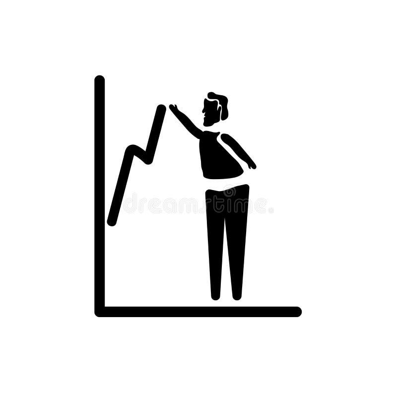 措施成功在白色背景隔绝的象传染媒介,措施成功标志,企业例证 库存例证