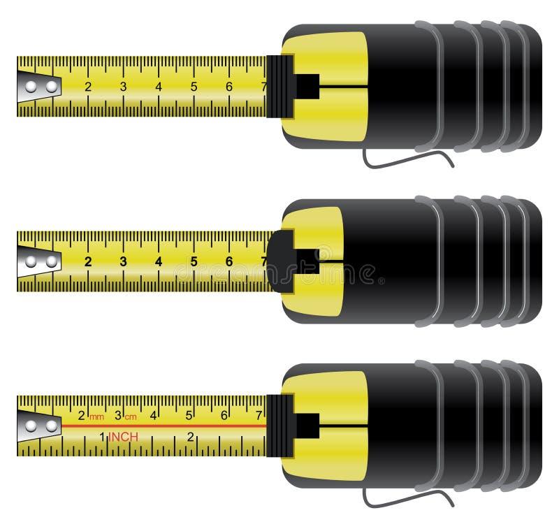 措施磁带集合 向量例证
