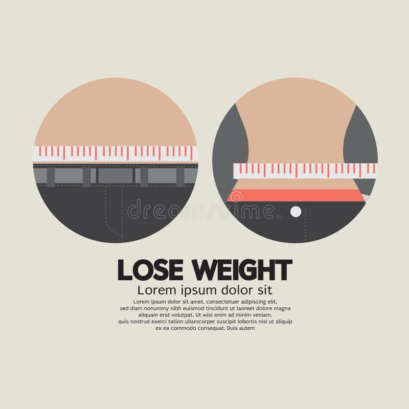 措施TapFlat设计丢失重量健康概念 向量例证