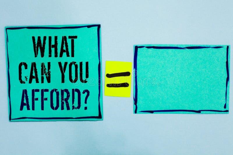 措辞文字文本什么可能您买得起问题 Give的企业概念我们您的金钱黑色的预算可及性排行了绿色s 库存图片