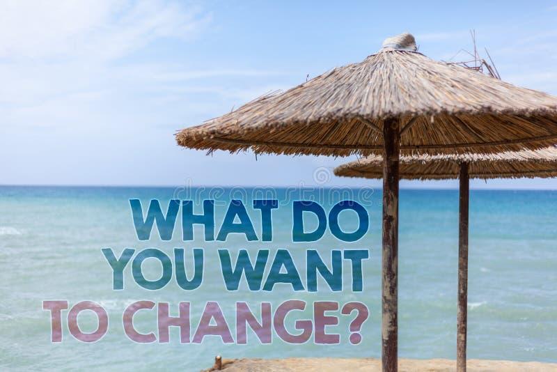措辞文字文本什么您要改变问题 战略规划判定客观蓝色海滩水的企业概念 皇族释放例证