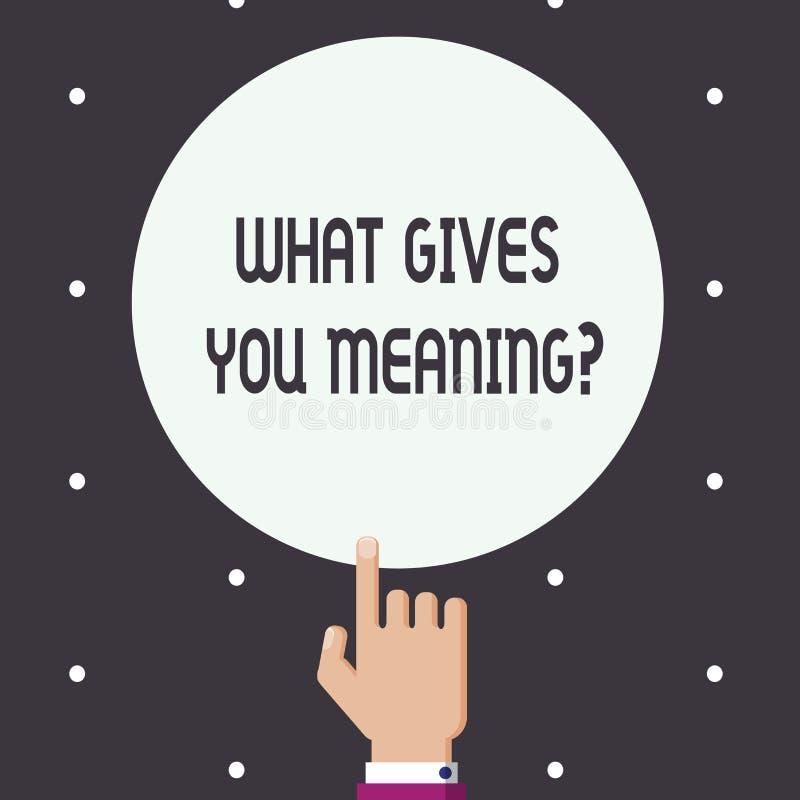 措辞文字文本什么给您意思问题 您的目的企业概念或意图在生活中 皇族释放例证