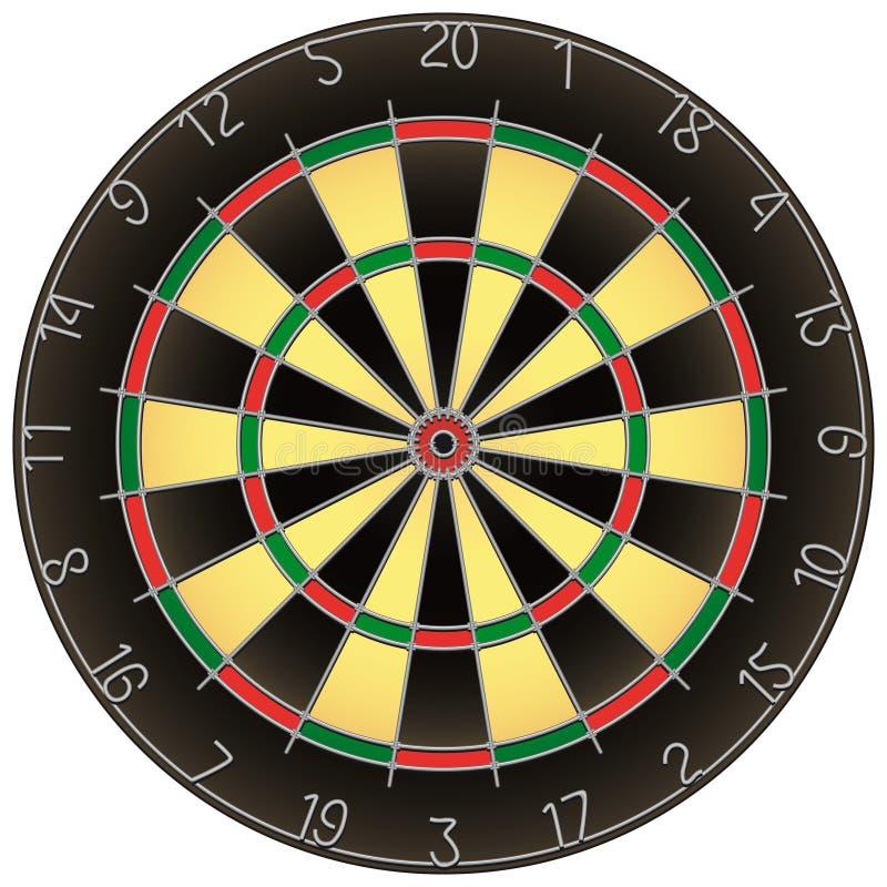 掷镖的圆靶查出的向量 向量例证