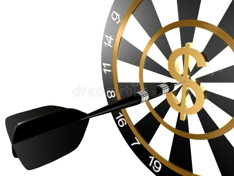 掷镖的圆靶 向量例证