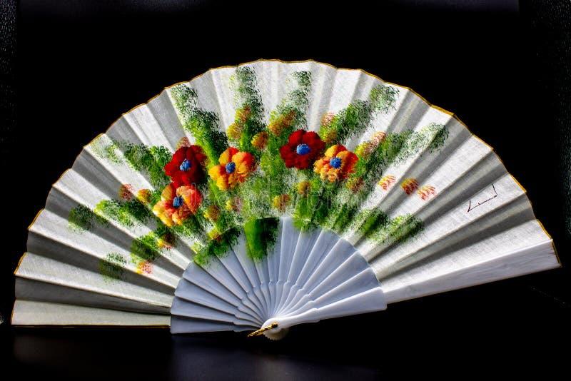 描述五颜六色的鸦片的西班牙爱好者 库存照片
