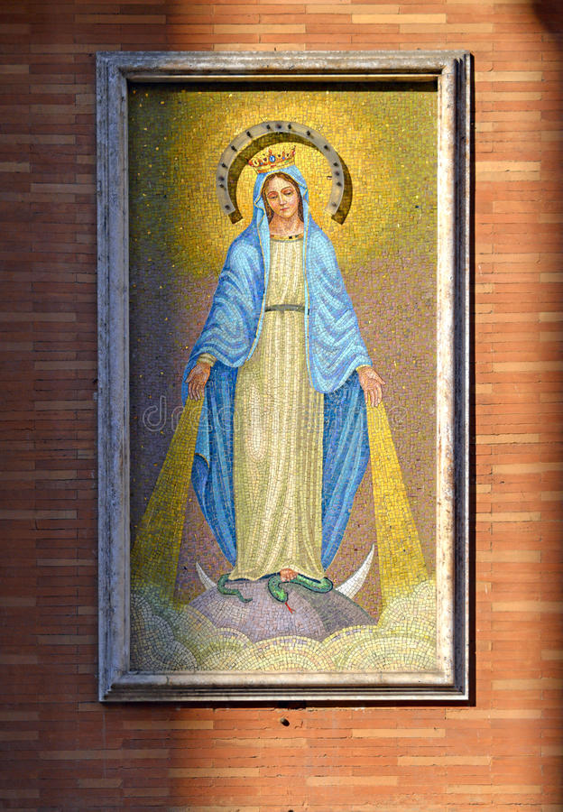 描述圣玛丽的瓦片 免版税库存照片