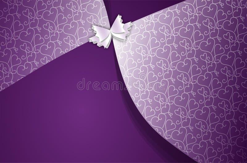 描述庆祝的摘要传染媒介紫色种族背景 向量例证