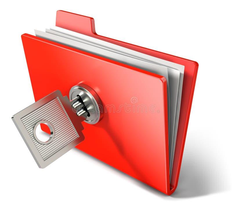 提供专用的文件夹 库存例证
