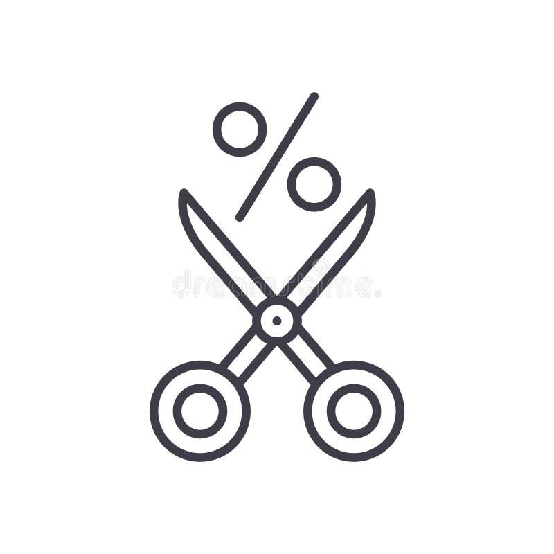 提供折扣黑色象概念 提供折扣平的传染媒介标志,标志,例证 库存例证