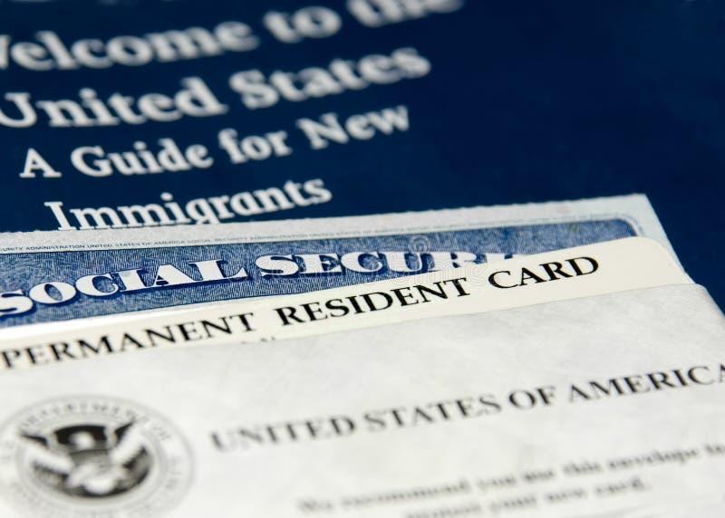 提供新的居民我们 免版税库存照片