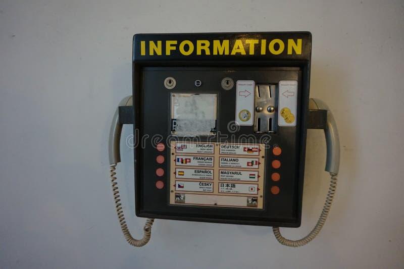 提供的参考信息街道电话 免版税库存图片