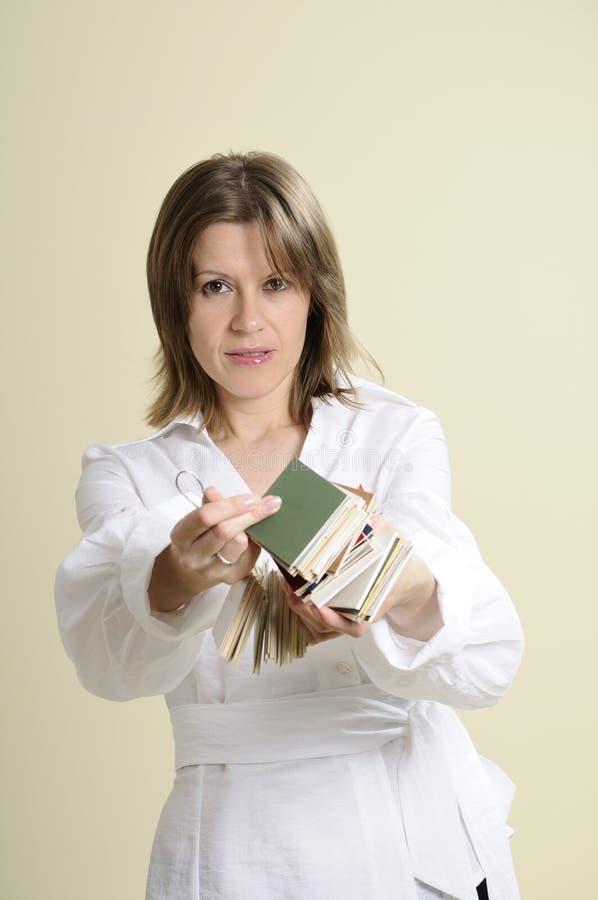 提供的抽样人员妇女 免版税库存图片