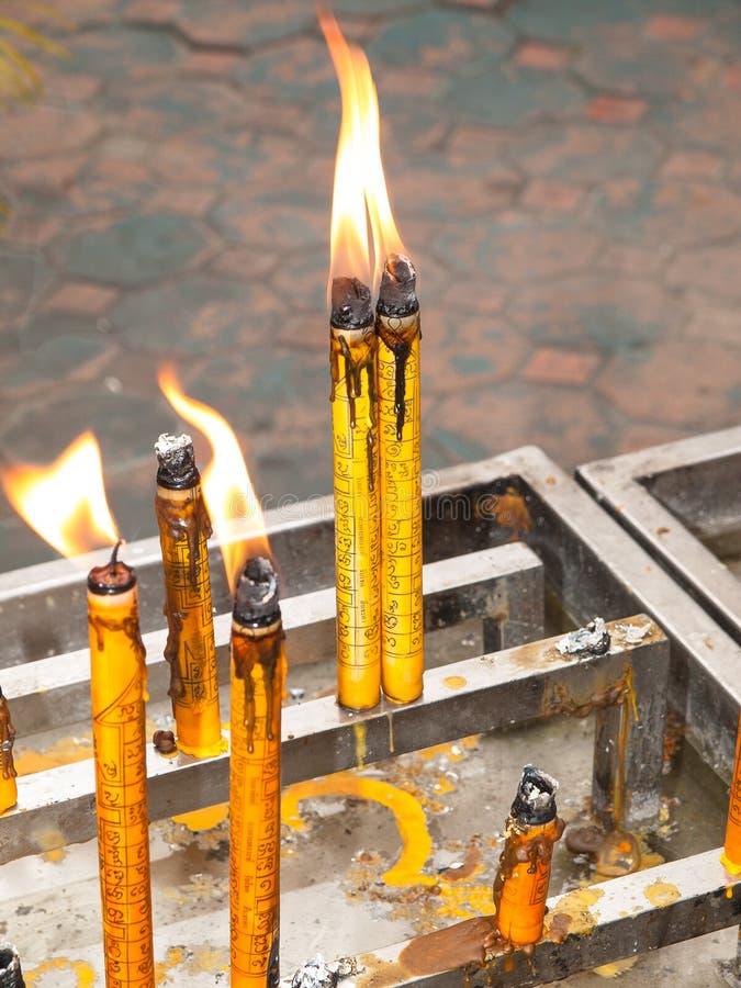提供的文化灼烧的蜡烛 免版税图库摄影
