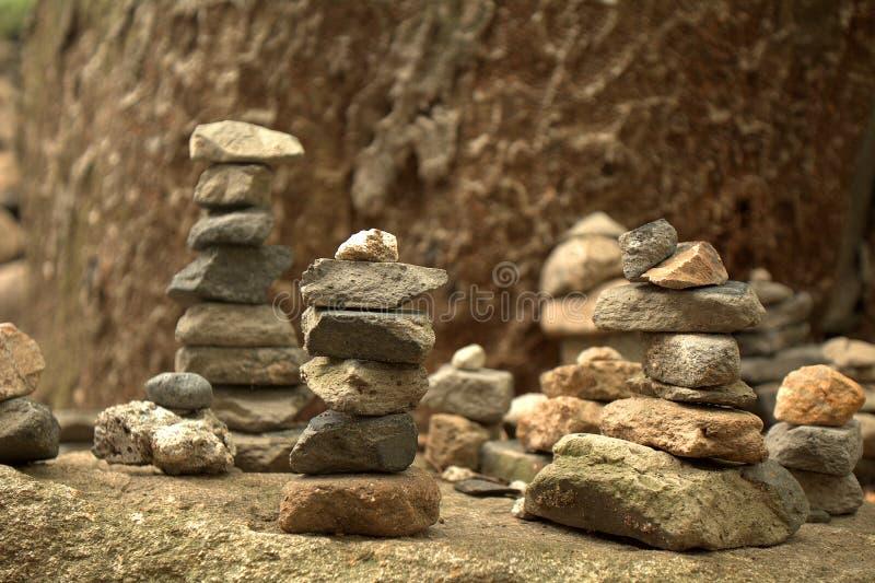 提供的石头, Bulguk寺庙,韩国共和国 免版税图库摄影
