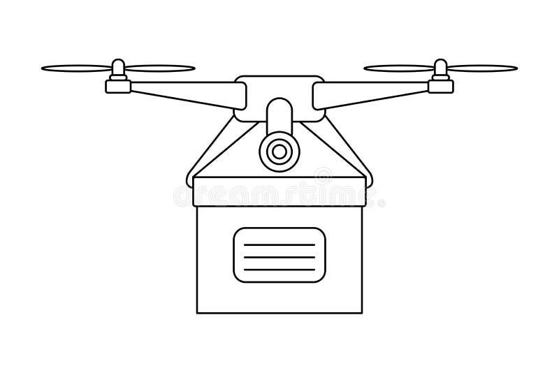 提供箱子白色背景传染媒介的寄生虫象 向量例证