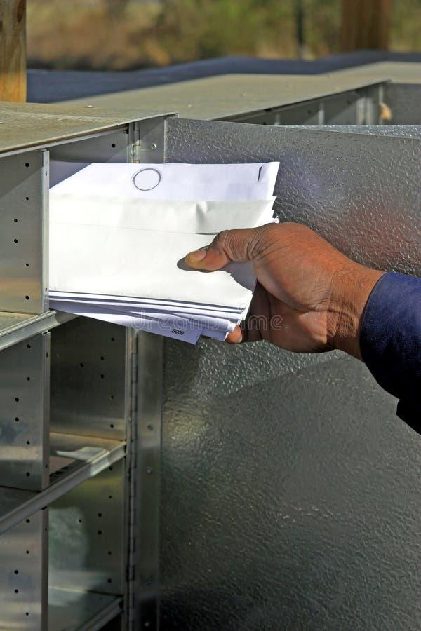 提供邮件 免版税库存照片
