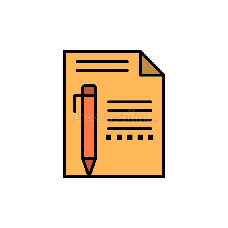 提供,编辑,呼叫,裱糊,书写,写平的颜色象 传染媒介象横幅模板 皇族释放例证